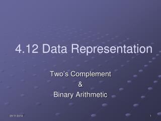4.12 Data Representation