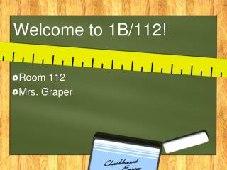 Welcome to 1B/112!