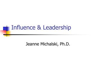 Influence & Leadership
