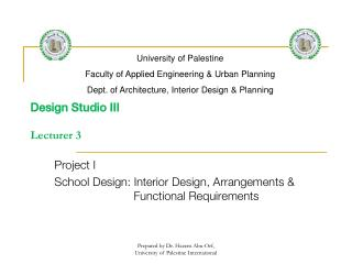 Design Studio III  Lecturer 3