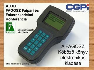A FAGOSZ Köböző könyv elektronikus kiadása