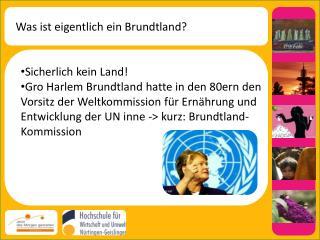Was ist eigentlich ein Brundtland?