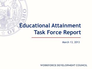 Educational Attainment Task Force Report