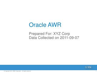 Oracle AWR