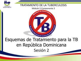 Esquemas de Tratamiento para la TB en República Dominicana Sesión  2