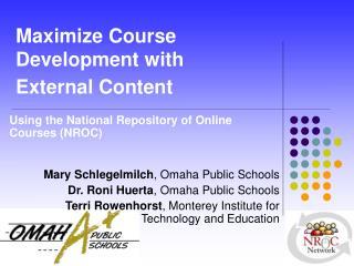 Maximize Course Development with  External Content