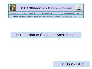 CSC 3650 Introduction to Computer Architecture