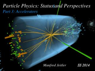 Particle Physics: Status and Perspectives Part 3: Accelerators