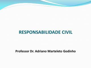 RESPONSABILIDADE CIVIL Professor Dr. Adriano Marteleto Godinho