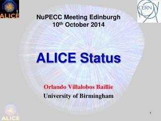 ALICE Status
