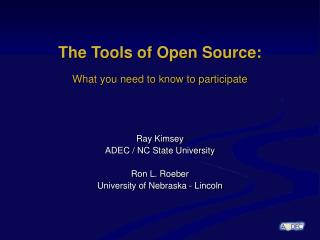 The Tools of Open Source: