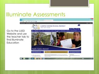 Illuminate Assessments