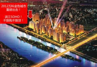 2012 万科金色城市 重磅出击! 滨江 SOHO ! 不限购不限贷!