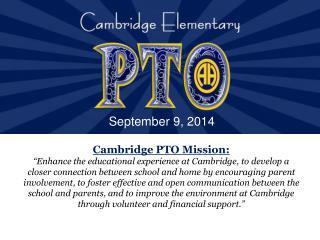 Cambridge PTO Mission: