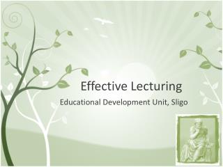 Effective Lecturing