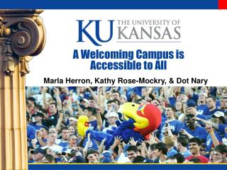 A Welcoming Campus is Accessible to All