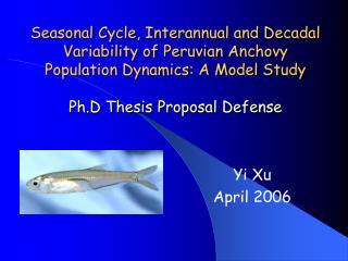 Yi Xu April 2006