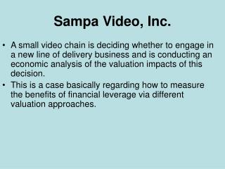 Sampa Video, Inc.