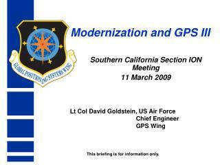 Modernization and GPS III