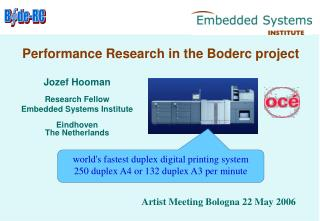 Performance Research in the Boderc project