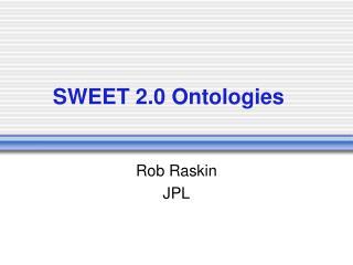 SWEET 2.0 Ontologies