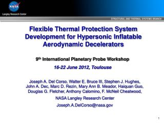 Flexible Thermal Protection System Development for Hypersonic Inflatable Aerodynamic Decelerators
