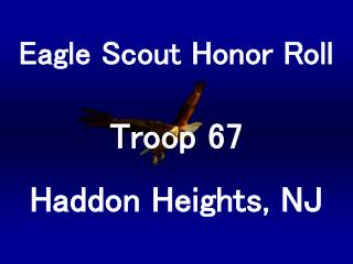 Eagle Scout Honor Roll
