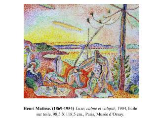 Henri Matisse. La Moulade � Collioure , 1905, huile sur toile, 28,2 X 35,5 cm., coll. Part.