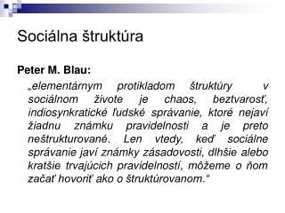 Sociálna štruktúra