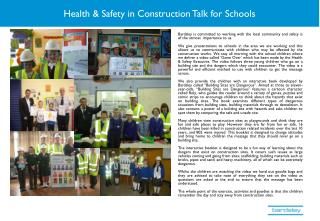 Health & Safety in Construction Talk for Schools