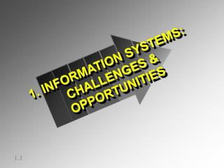 1. INFORMATION SYSTEMS: CHALLENGES & OPPORTUNITIES