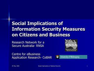 Social Implications of Information Security Measures on Citizens and Business