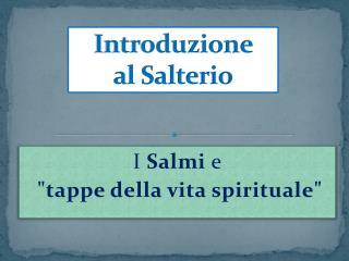 Introduzione  al Salterio