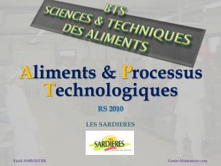 BTS  Sciences & Techniques des Aliments