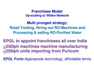 Multi pronged strategy: