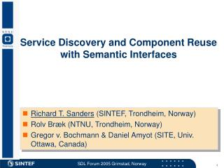 Service Discovery and Component Reuse  with Semantic Interfaces