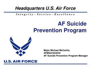AF Suicide  Prevention Program