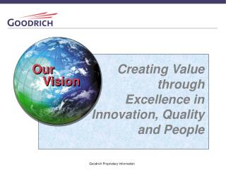 Creating Value through Excellence in  Innovation, Quality and People