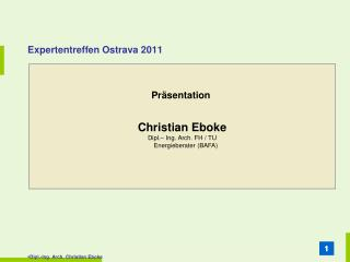 Expertentreffen Ostrava 2011