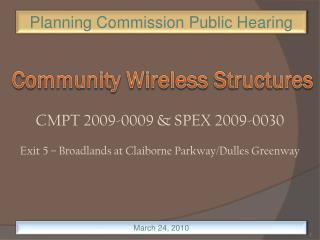 CMPT 2009-0009 & SPEX 2009-0030  Exit 5 – Broadlands at Claiborne Parkway/Dulles Greenway