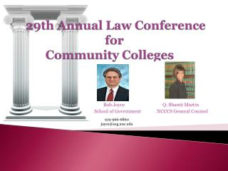 29th Annual Law Conference  for  Community Colleges