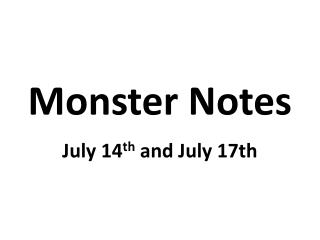 Monster Notes