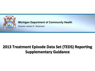 2013 Treatment Episode Data Set (TEDS) Reporting Supplementary Guidance