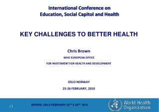 International Conference on  Education, Social Capitol and Health