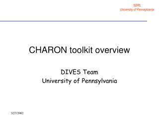 CHARON toolkit overview