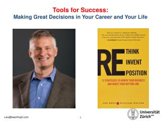 Tools for Success : Making Great Decisions in Your Career and Your Life