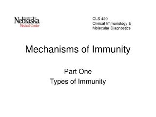 Mechanisms of Immunity
