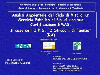 Università degli Studi di Bologna – Facoltà di Ingegneria