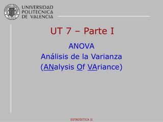 UT 7 � Parte I