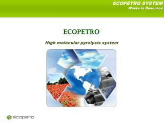 ECOPETRO  High molecular pyrolysis system